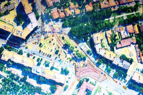 Ocoliţi! Circulaţia prin intersecția Calea Aradului - Oneştilor, deviată până în iulie de lucrările la linia de tramvai! (FOTO)