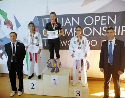 Orădeanca Karina Mihuța, triplă campioană la Open-ul Italiei de Taekwon-do