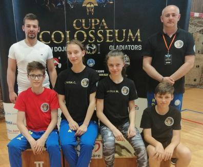 Debut bun şi la kempo pentru sportivii orădeni de la King Do-Lions: Cinci medalii la Baia Mare