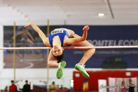 Ligia Grozav, campioană naţională la atletism şi recordmană judeţeană la săritura în înălţime