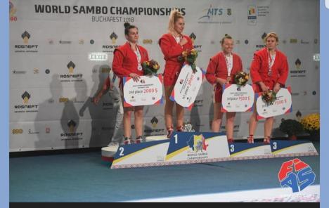 Orădeanca Lorena Podelenczki, vicecampioană mondială la sambo! (FOTO)