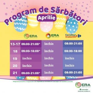 Program de Paște la ERA Park Oradea