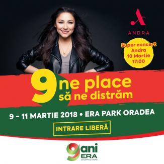 9 ani de ERA Park Oradea: Concert cu Andra şi un super concurs în care poţi câştiga un iPhone!
