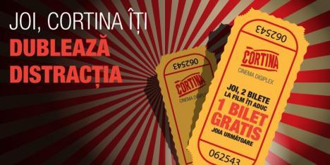 Joi, Cortina Cinema Digiplex îţi dublează distracţia!
