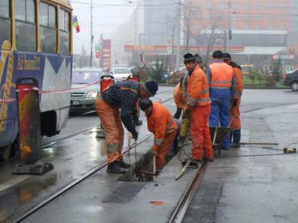 OTL modifică circulaţia tramvaielor din cauza unor lucrări lângă Farmacia 5
