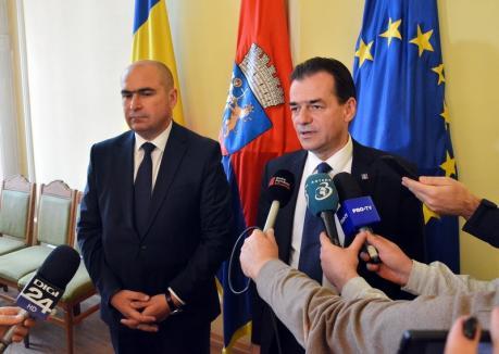 Ludovic Orban la Oradea: 'Vom cere schimbarea legislaţiei astfel încât întreg impozitul pe venit să devină sursă la bugetele locale'