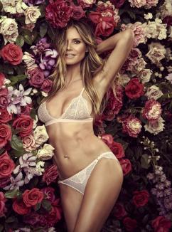 Heidi Klum, sexy în lenjerie intimă, la 44 de ani (FOTO)