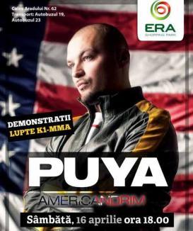 Forţă şi hip-hop cu Puya şi luptătorii lui Sandu Lungu, la ERA Shopping Park