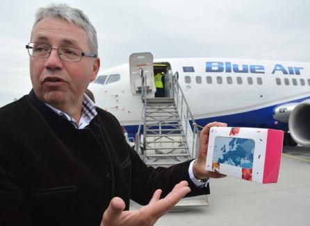 """""""Deschidem spre România"""": Blue Air păstrează în vara 2018 zborurile Oradea-Constanţa şi Oradea-Bucureşti"""