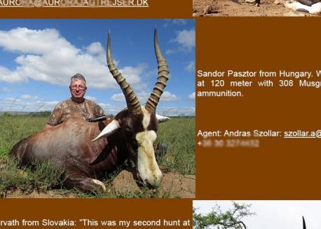 """Cum se recomandă şeful CJ Bihor: """"Pásztor Sándor from Hungary"""". Şi """"de ce nu are timp de Aeroport"""": se răsfaţă în Africa la vânătoare de antilope!"""