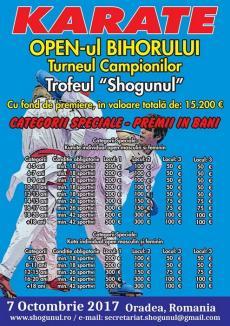 Peste 1000 de sportivi, aşteptaţi la 'Openul Bihorului – Turneul campionilor' la karate, sâmbătă, la Sîntandrei