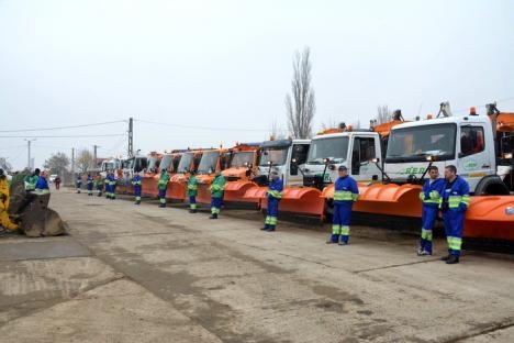 RER s-a pregătit de iarnă! 29 de utilaje, dintre care 4 noi, vor interveni pentru deszăpezirea Oradiei (FOTO/VIDEO)