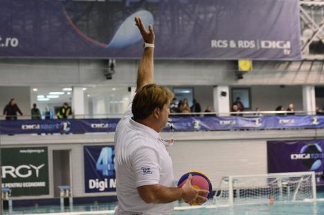 Liga Mondială la Polo: România a cedat cu 7-14 jocul cu Serbia, desfășurat la Oradea (FOTO)