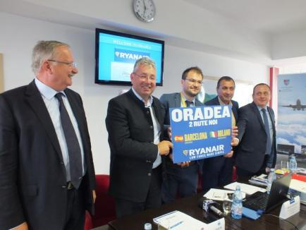 """Un oficial RyanAir se declară """"satisfăcut"""" de rezervările pentru viitoarele curse către Barcelona şi Milano şi """"încântat"""" de interesul bihorenilor"""