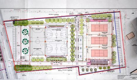 Încep lucrările la Parcul Sportiv Salca III: Terenuri de tenis, baschet şi fotbal în zona Lotus Center