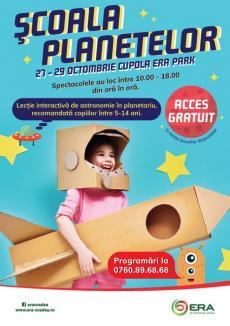 Şcoala Planetelor vă invită în acest weekend la ERA Park, la un spectacol fascinant despre univers!