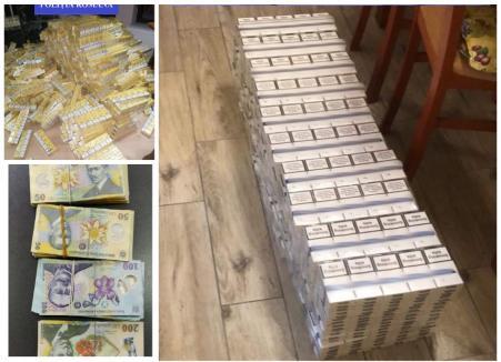 Flagrant şi percheziţii într-un dosar de contrabandă cu ţigări în Bihor. Şapte persoane au fost reţinute (VIDEO)