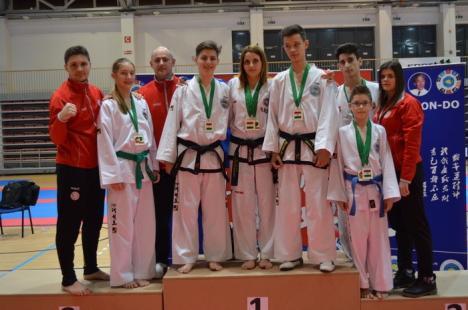 Mai multe clasări pe podium pentru sportivii orădeni, la Campionatul European Open organizat de Uniunea Internaţională de Taekwon-do ITF