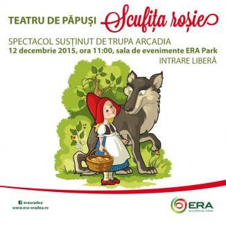 Un nou weekend dedicat copiilor la ERA Park: Întâlniri cu Scufiţa Roşie, cu Moş Crăciun şi BombonERA