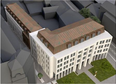 Primele imagini cu noua clădire care va lua locul fostului sediu al PDL Bihor din Parcul Traian (FOTO)
