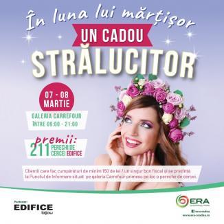 Ziua Femeii, la ERA Park Oradea: Fă-ţi cumpărăturile şi câştigi pe loc o pereche de cercei!