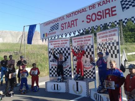Antonio Cohuţ a câştigat şi cursa de la Reşiţa din campionatul naţional de karting (FOTO)