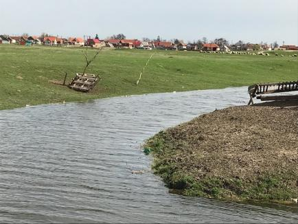 Serele localnicilor din Diosig, în pericol de inundaţie, din cauza canalelor de desecare (FOTO)