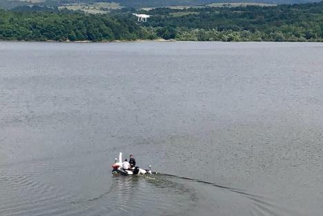 Ce este sub apă? Trei lacuri, măsurate în detaliu de hidrologii ABA Crişuri (FOTO)