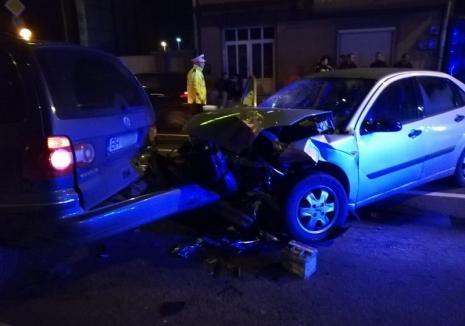 Pericol public pe şoselele din Oradea: Beat criţă, un bărbat a provocat un carambol. A mai fost prins de 4 ori băut la volan!