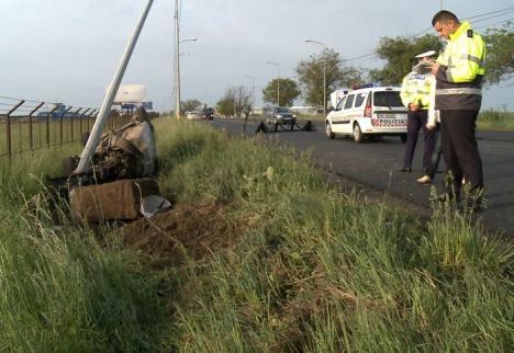 Vitezoman de 24 de ani, băut la volan: Trei bărbaţi la spital, în urma unui accident petrecut lângă Aeroport