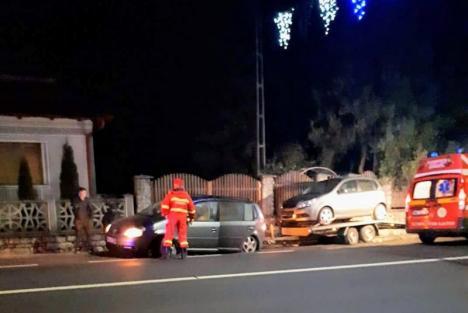 Insulele de calmare a traficului fac noi victime pe DN 1: Un tânăr a pierdut controlul maşinii şi s-a oprit într-un gard