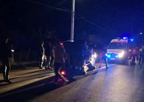 Accidentul din Borod, cu două maşini şi o căruţă: Vizitiul era beat, ducea cu el doi copii, iar atelajul era nesemnalizat