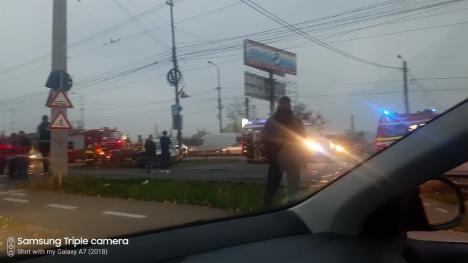 Accident cu trei victime pe Şoseaua Borşului, în Oradea