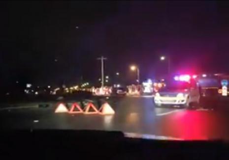 Accident pe Borşului! Un tânăr din Sîntandrei, poliţist de frontieră, a murit, o orădeancă este foarte grav rănită! (FOTO / VIDEO)