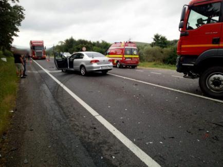 Accident grav pe DN 1, între Cluj și Oradea: Doi tineri răniți lângă Gilău, unul dintre ei fiind în stare gravă (FOTO)