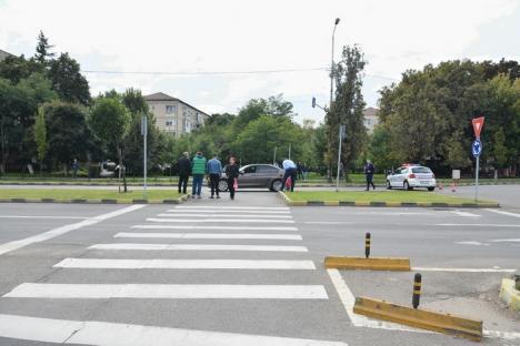 Accident pe Bulevardul Dacia: Aflat la volanul unui BMW, un tânăr de 20 de ani a lovit un bătrânel pe zebră (FOTO)