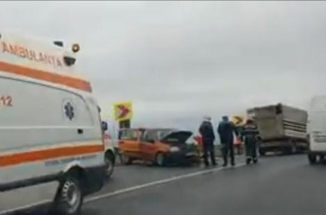 Poliția Bihor, despre accidentul de la Diosig: Un şofer de 24 de ani nu a adaptat viteza la condiţiile de drum