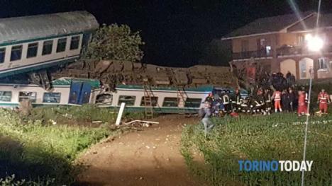 Accident feroviar în Italia: 18 persoane rănite, un român a murit