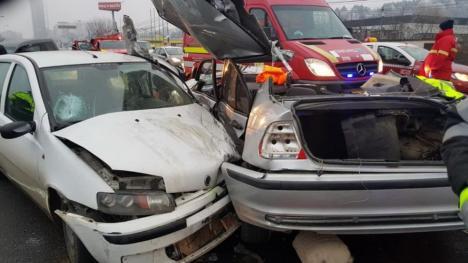 Şoferul bihorean din BMW a provocat accidentul din Floreşti. Tânărul de 20 de ani nu are permis de conducere (FOTO / VIDEO)