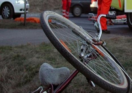 Un austriac a ieşit cu maşina în decor, a acroşat o biciclistă şi a dărâmat un stâlp electric în Sălacea. Femeia a ajuns în spital