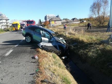 Accident grav, cu bihoreni, la Huedin: Un TIR Frutti Fresh s-a ciocnit cu un Audi cu numere de Bihor (FOTO)