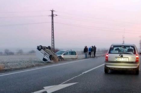 Accident cu 7 victime în Bihor. Un tânăr de 31 de ani a murit pe loc, patru mașini implicate