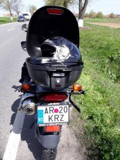 Sezonul moto s-a deschis cu un accident grav: Un tânăr motociclist a ajuns în comă, după ce a fost lovit de braţul unui utilaj pe DN 79 (FOTO)