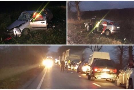 Accident grav pe DN 79, între Arad și Oradea. Două persoane au murit! (FOTO)