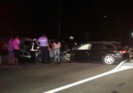 Beată la volanul unui Audi A4, o şoferiţă a provocat un accident şi a făcut show în faţa poliţiştilor (VIDEO)