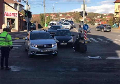 Accident pe Bulevardul Ştefan cel Mare, lângă ANL. Un pieton a fost acroşat pe trecere (FOTO)