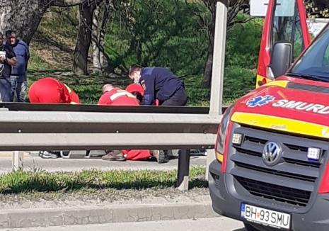 Accident în Oradea. Un pieton care traversa regulamentar a ajuns la spital (FOTO)