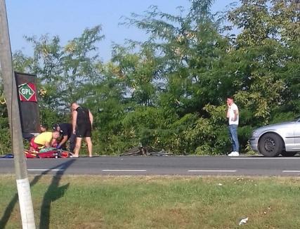 Accident teribil! Un bărbat din Salonta a murit lovit de BMW în timp ce trecea strada prin loc nemarcat (FOTO)