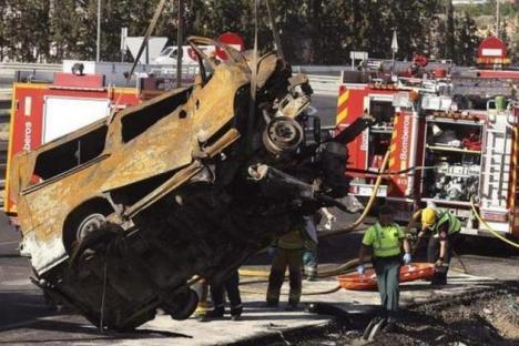 Opt români morţi într-un accident rutier produs în Spania