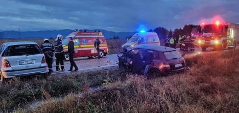 Accident grav la Sudrigiu: patru răniți și trei mașini implicate (FOTO / VIDEO)